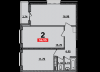 ЖК Рекорд, 2 комнатная квартира
