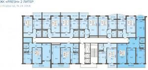 2 подъезд, 19-24 этаж