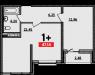 1-комнатная квартира, евроформат