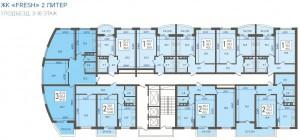 1 подъезд, 3-18 этаж