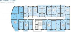 1 подъезд, 19-24 этаж