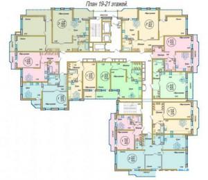 поэтажная планировка, 19-21 этаж