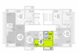 Планировка 1-16 этада, 3 под
