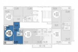 Планировка 2-10 этажа