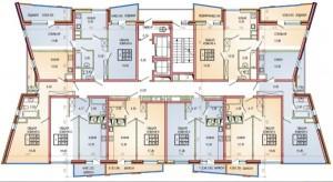 Поэтажная планировка, литер 1, 2–4 этажи