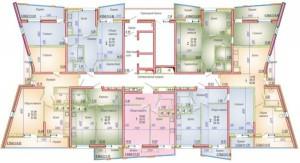 Поэтажная планировка, литер 2, 2–4 этажи