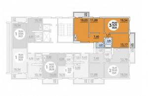 Планировка 1-16 этада, 2 под