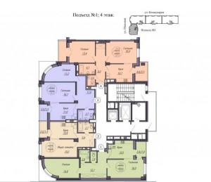 1 подъезд, 4 этаж