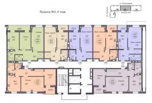 3 подъезд, 4 этаж