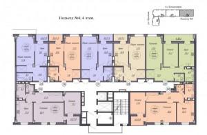 4 подъезд, 4 этаж