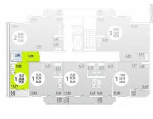 Планировка 1-16 этада, 1 под